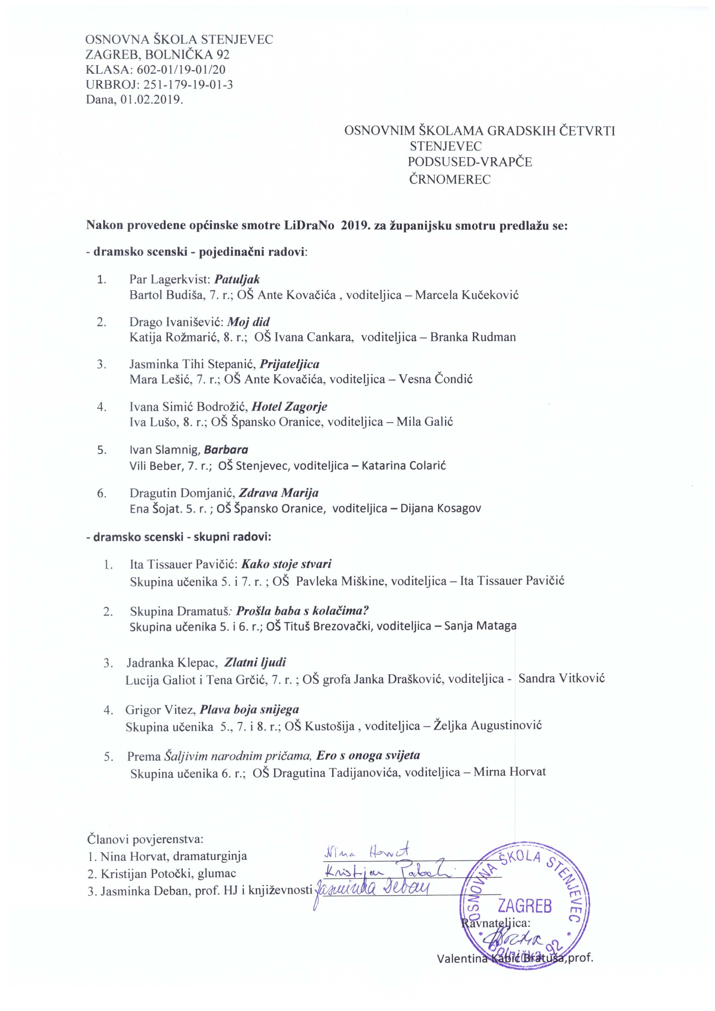 Osnovna Skola Stenjevec Zagreb Naslovnica Rezultati Opcinske